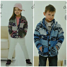 KNITTING PATTERN Girls/Boys Easy Knit Long Sleeve Cardigan/Hoodie Chunky 4026