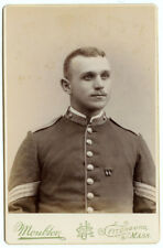 RARE VINTAGE SPANISH AMERICAN WAR MILITARY ARMY: Span Am Seargeant Cabinet Card