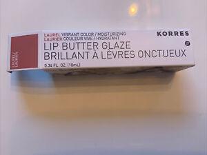 Korres Lip Butter Glaze Laurel  Moisturizing Vibrant Color 0.34 fl oz BNIB
