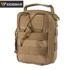 IDOGEAR Tactical Medical Pouch First Aid MOLLE EMT Utility Pouch 500D Nylon Army