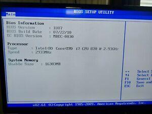 Desktop Pc I7, Asus p7p55 d , 16 GB ram , 120gb ssd , Grafik 2gb