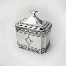 Rectangular Tea Caddy 835 Silver Hungary 1930