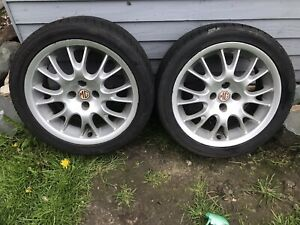 """MGF / MG TF 16"""" Harpin Alloy Wheels X2 (pair) With Nexen 215/40Zr16 86w Tyres"""