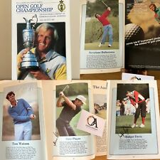 New listing Rare Official Programme Golf Championship Muirfield Signed By 69 Of The Players