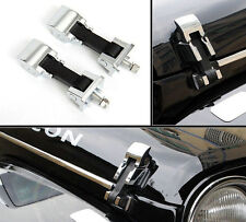Pair Stainless Steel Chrome Hood Lock Catches Latches Kit for Jeep Wrangler JK l
