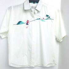 Vintage Portraits By Northern Isles Golf Button Down Shirt Sz 12 Short Sleeve A6