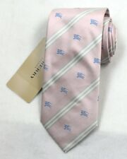 """NEW Burberry PINK Stripes Mans 100% Silk Tie Authentic Italy Made 3.5"""" 035040"""