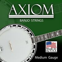 Axiom Acoustic Banjo Strings Loop End  Made in USA