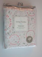 NEW Living Textiles Infant Baby Girl's Fitted Crib Sheet Pink Confetti Cotton