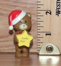 "Unbranded ""Lucky Star"" Christmas Teddy Bear PVC Figure Only **READ**"