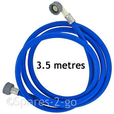Universal 3.5M Cold Water Dishwasher Fill Hose Inlet Feed Pipe Extra Long Blue