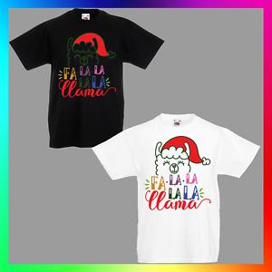 Fa-la-la-la-la Llama TShirt T-Shirt Tee Kid Children Xmas Christmas Deck Halls