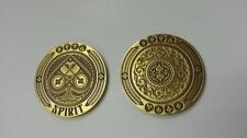 Set of Spirit Coins 3d Engraved Poker Dealer Gold & Silver Card Guards