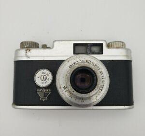 Vintage Argus Markfinder Model 21 f/3.5 50mm Coated Cintar Lens Flash Antique
