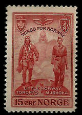 WWII Training Center In Toronto Canada 1945 Norway Mint Stamp Wings for Norway