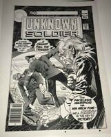 Unknown Soldier Joe Kubert Weird War Cover Production Art Transparency Nice