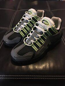 Nike Air Max 95 NDSTRKT Neon Black Grey Neon Yellow Men's Size 9 CZ3591-002