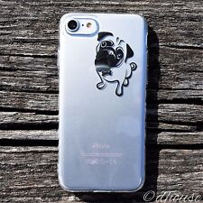 MADE IN JAPAN Soft Clear TPU Case Cute Pug Dog for iPhone 7