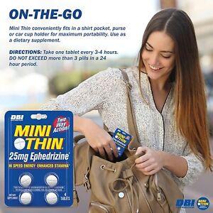 Mini Thin,Two-Way Action Caffeine Pills, Hi Speed Energy Enhanced Stamina 24 PcK