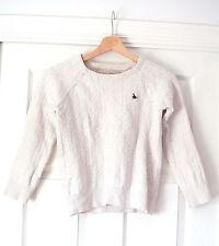 Jack Wills Knitted Cable Knit Merino Wool Blend Cream Jumper UK 10 SMALL FIT 4-6