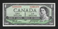 Canada  Bank Note   1954   $1   DEVIL'S FACE    F