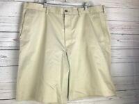 John Nordstrom Khaki Shorts Sz 40 Smart Care Wrinkle Free Flat Front Cotton