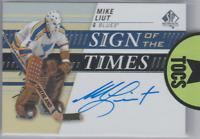Mike Liut 2019-20 SP Authentic Sign Of The Times Hard Signed Auto St Louis Blue