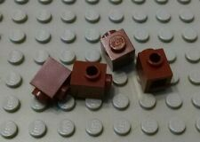 New Lego Lot of 4 Reddish Brown 1x1 Bricks with Side Stud