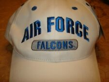 USAF AIR FORCE FALCONS MILITARY EMBROIDERED CAP HEADWEAR WHITE/BLUE ADJUSTABLE