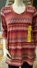 Premise 3/4 Sleeve Sharkbite shirt/top Multi Color NWT Size M msrp $68