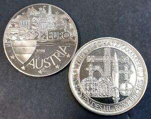 Oostenrijk 2,5 euro Wiener Schatzkammer Insignen des heiligen Röm. Reiches 1998
