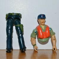 "Vintage GI Joe Cutter Action Figure 3.75"" ARAH 1985 Hasbro Killer Whale Driver"
