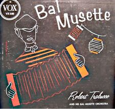 ROBERT TRABUCCO bal musette LP 25cm 1954 VOX USA retour des hirondelles RARE VG+