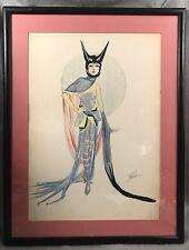 "Samuel (Sam) Zalud Original ""Catwoman""Costume Drawing Schubert Theatre New York"