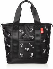 PEANUTS SNOOPY Mini Tote Bag Shoulder Purse Handbag Pouch Black F/S Japan NEW