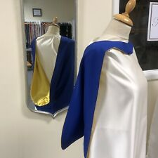 academic gown dress hood in Blue And Yellow