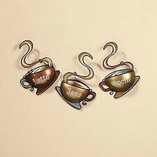 Coffee House Cup Mug Latte Java Mocha Metal Wall Art Home Decor (1 DESIGN 1)