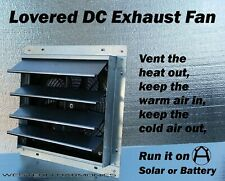 Greenhouse Louvered Exhaust Fan - Water Proof, 12v