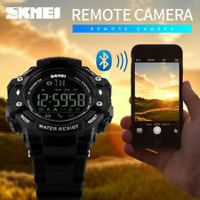 Skmei Men's Bluetooth LED Date Calorie Distance Digital Army Sport Black Watch
