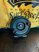 Vintage Alpha Trout Fishing Reel Full Bakelite Rare Green Australian Made 1950's
