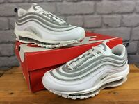 NIKE MENS UK 6 EU 40 AIR MAX 97 WHITE WOLF GREY SILVER BULLET TRAINERS RRP £145