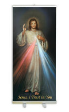 Retractable Divine Mercy Banner Stand