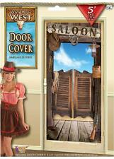 5FT WILD WEST SALOON DOOR COVER Western Hanging Cowboy Party Decoration 75935
