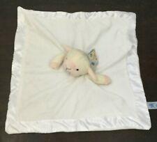 Kids of America Baby Lovey Lamb Plush Satin Baby Blanket NWT