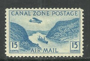 U.S. Possession Canal Zone Airmail stamp scott c10 - 15 cent issue - mh  #10