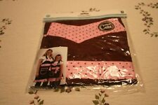 Cricut Cake Apron Adult Size Pink Brown Provo Craft and Novelty New In Package