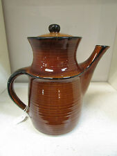 ELLIS COFFEE POT TEAPOT MDK AUSTRALIAN STUDIO POTTERY ARTIST 1960s RETRO