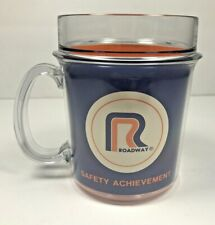 Vtg ROADWAY TRUCKING SAFETY ACHIEVEMENT Plastic Mug Handle Thermo Serv Coffee