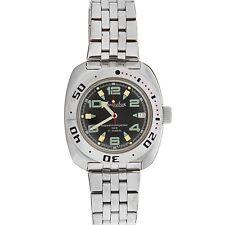 Scuba Automatik Russische Black Uhr 710334 Amphibie Taucher Vostok Dude Militär TlFK1Jc