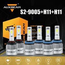 AUXBEAM 9005+H11+H11 Combo LED Headlight Bulbs Kit 216W Hi/Low Beam 6000K&Fog S2